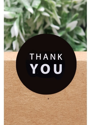 Funbou Sticker, Thank You / 10 Sayfa Siyah